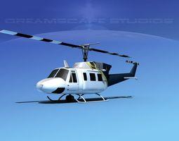 Bell 212 V28 Unmarked 3D Model