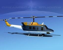 Bell 212 V29 Unmarked 3D Model