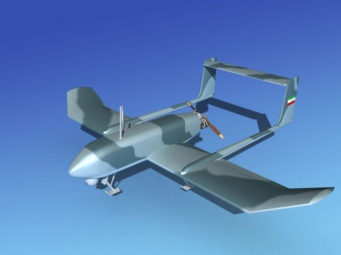 Mohajer 4 Drone V043D model