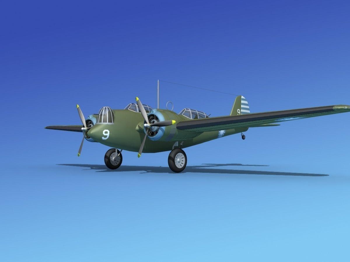 Martin B 10 China 3d Model Rigged Max Obj 3ds Lwo Lw