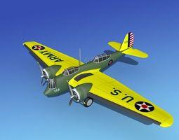 3D Martin B-10 V05 USAAC