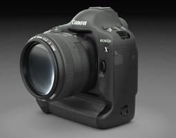 canon eos 1d-x dslr camera 3d model max obj 3ds fbx lwo lw lws