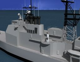 ticonderoga class cruiser cg54 uss antietam 3d rigged