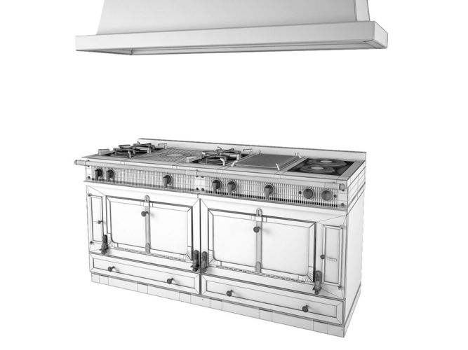 la cornue grand palais 180 3d model max obj 3ds fbx. Black Bedroom Furniture Sets. Home Design Ideas