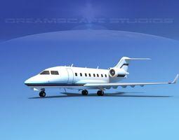 Bombardier Challenger CL-605 V07 3D model