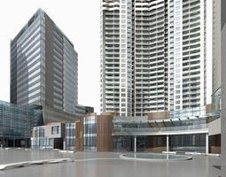 city-block Office Building 3D model