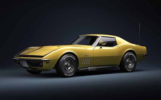 1969 Chevrolet Corvette ZL1 427 3D model | CGTrader