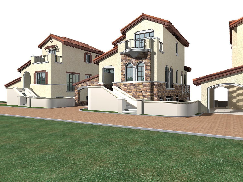 Villa 203 3d model max for Villas 3d model
