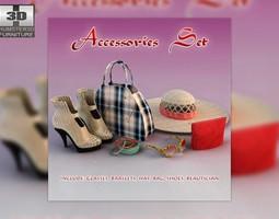 Woman accessories 3D asset