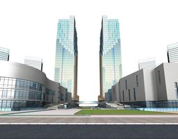3d commercial building 113