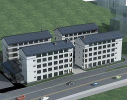 3D model city Hospital Building