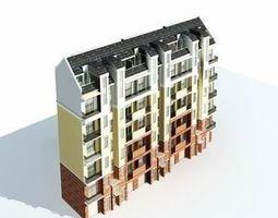 3d model multi residential 029