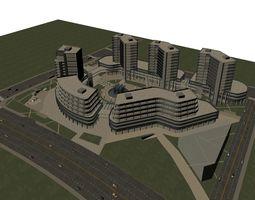 3d model commercial building 029