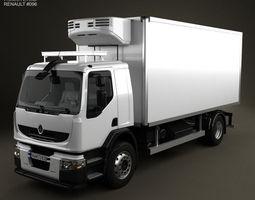 3d model renault premium distribution refrigerator truck 2011