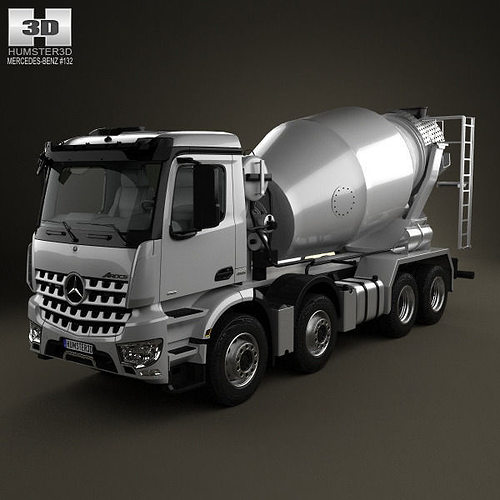 mercedes benz arocs mixer truck 2013 3d model cgtrader. Black Bedroom Furniture Sets. Home Design Ideas