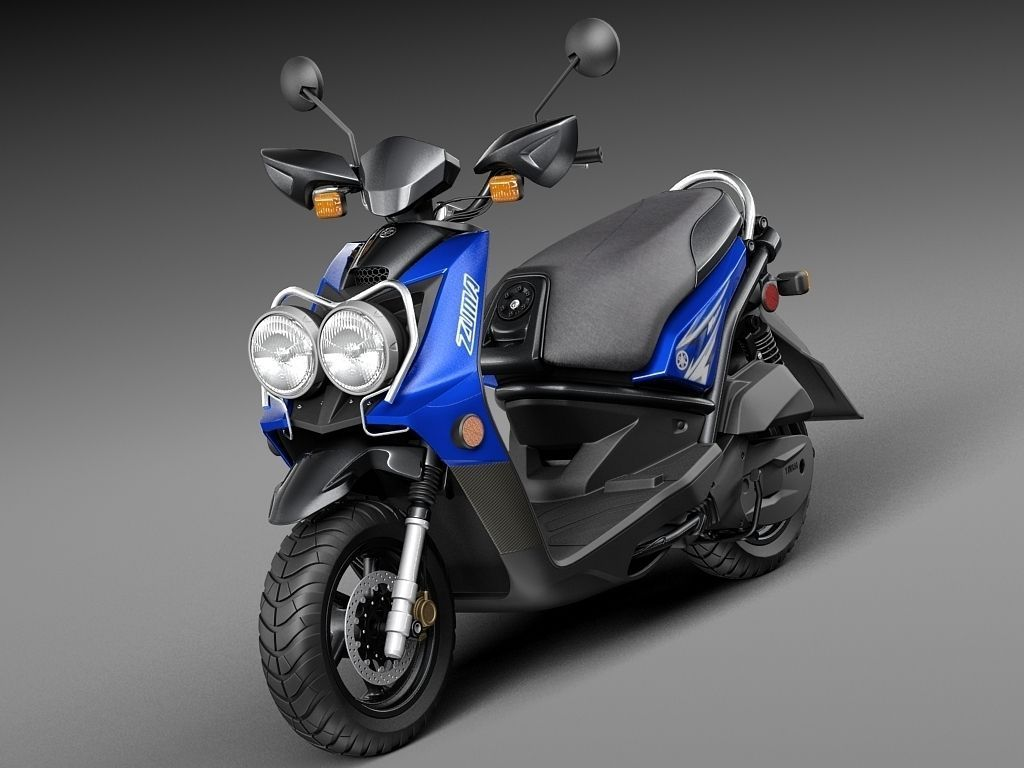 yamaha zuma 125 scooter 2014 3d model max obj 3ds fbx. Black Bedroom Furniture Sets. Home Design Ideas