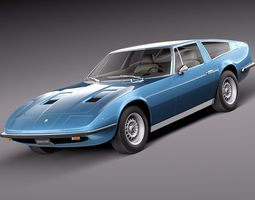 Maserati Indy 1973 3D Model