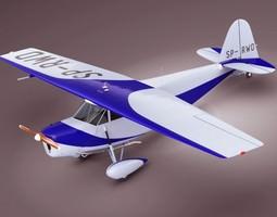 3D model Propeller airplane RWD5