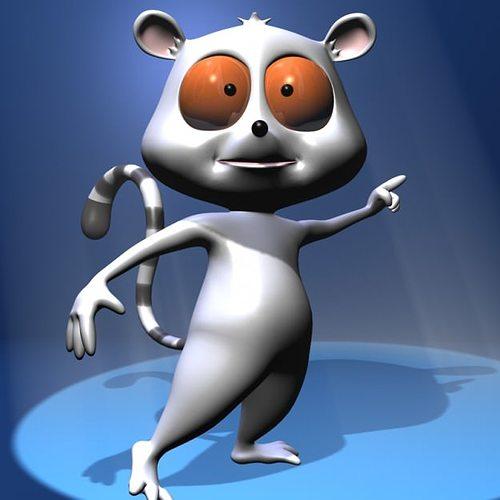 cartoon lemure character rigged 3d model rigged max obj 3ds fbx lwo lw lws mtl 1