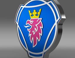 scania logo 3d model