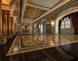 3d luxury baroque ballroom