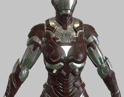 Iron Woman Rescue armor 3D Model
