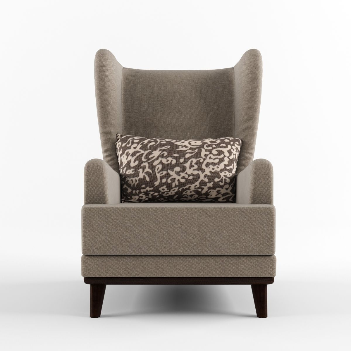 Armchair with headrest and pillow 3D Model MAX OBJ FBX ...