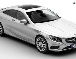 Mercedes S Class Coupe 2015 2 Headlight Versions 3D Model
