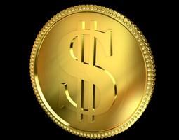 3D Golden Coin