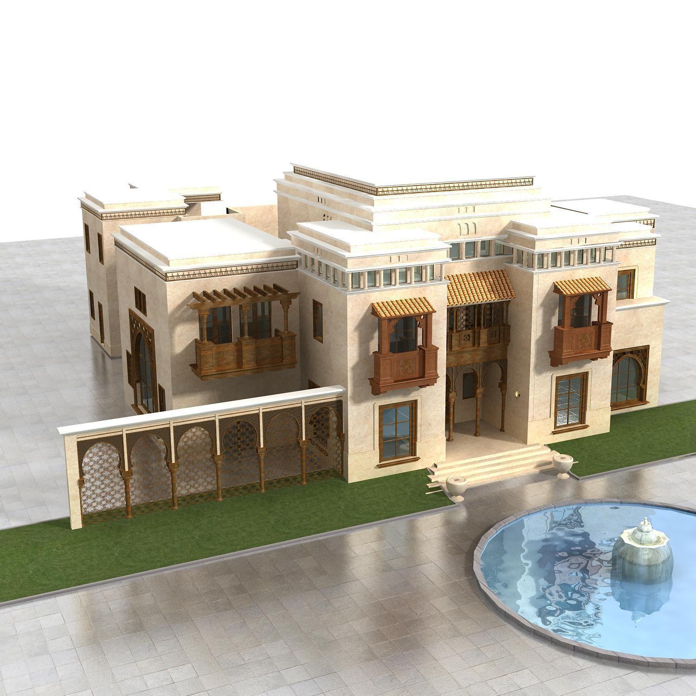 Villa 039 3d model max for Villas 3d model