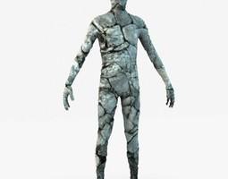 3D model Stone golem guardian