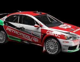Mitsubishi Lancer EVO X WRC 2014 3D Model