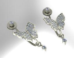 3D print model gems Earrings