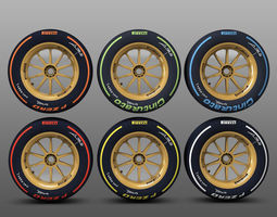 18 inches front tyre set 3D Model