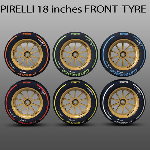 18 inches front tyre set3D model