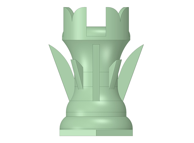rook piece of the chess set zero 3d model stl 1