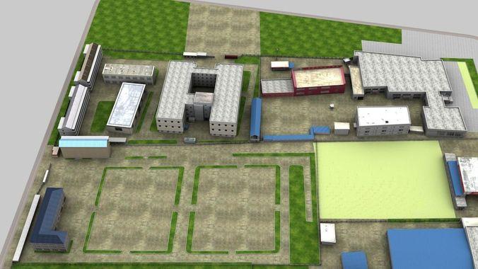 Building Complex 0463D model