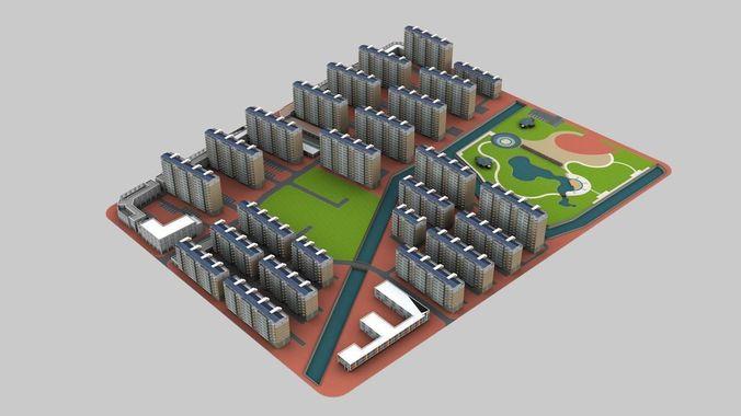 Cityscape 0303D model