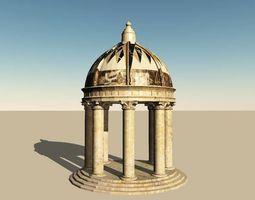 3D model Roman Dome Garden Folly