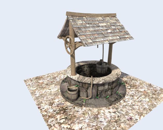 Medieval Water Well 3d Model Obj 3ds Fbx Blend Dae X