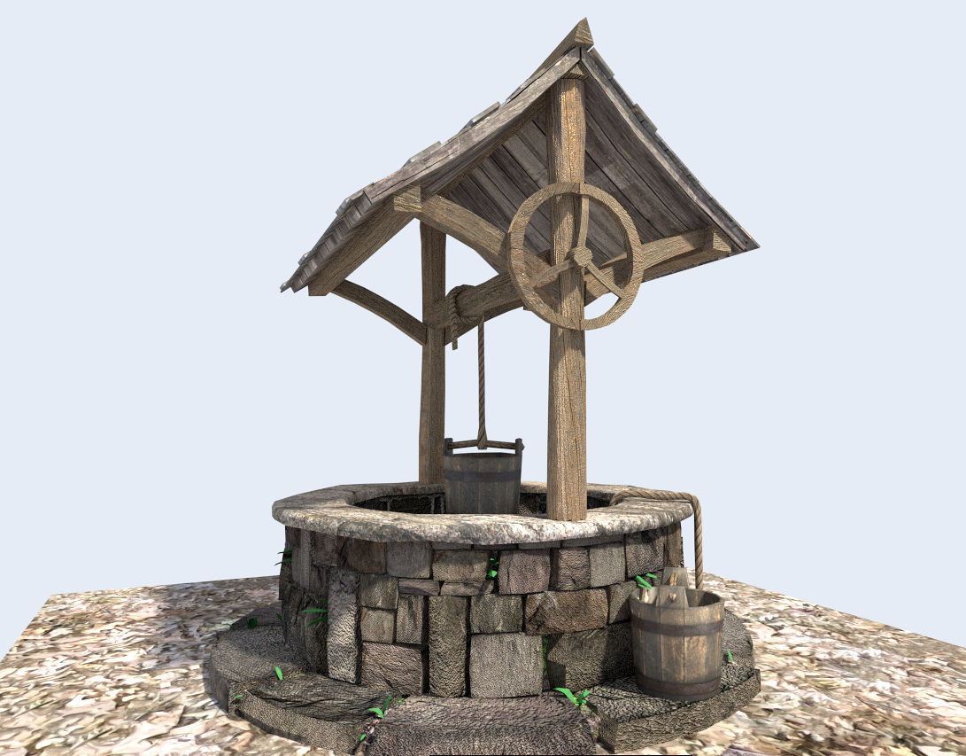 Medieval Water Well 3d Model Obj 3ds Fbx Blend Dae X Cgtrader Com