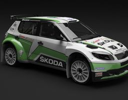Skoda Fabia S2000 WRC IRC 2014 3D Model