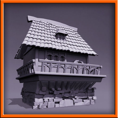 Medieval style house lever 53D model