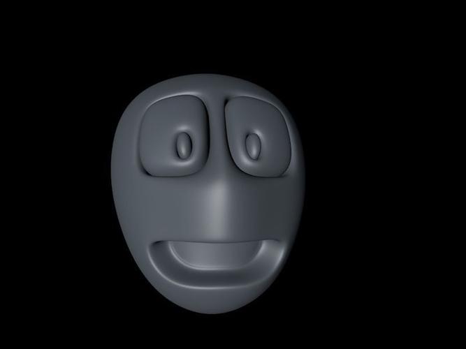 alien head cartoon3D model