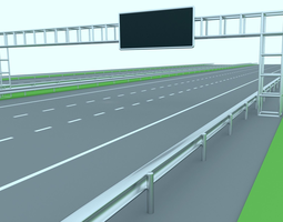 Freeway or Highway 3D asset