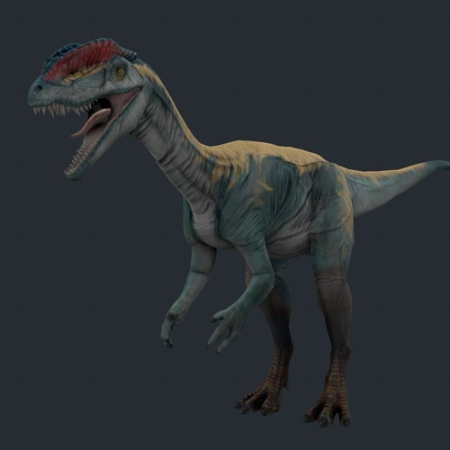 Dilo dinosaur dino3D model