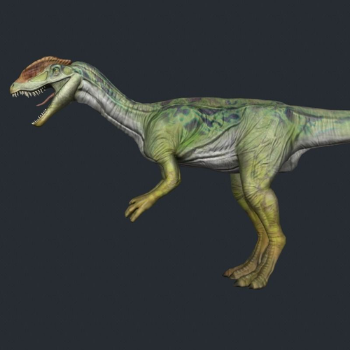 Dilo 2 dinosaur dino3D model