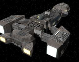 3D model USS Langley Gunship