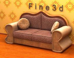 3D Antique Sofa 01-039
