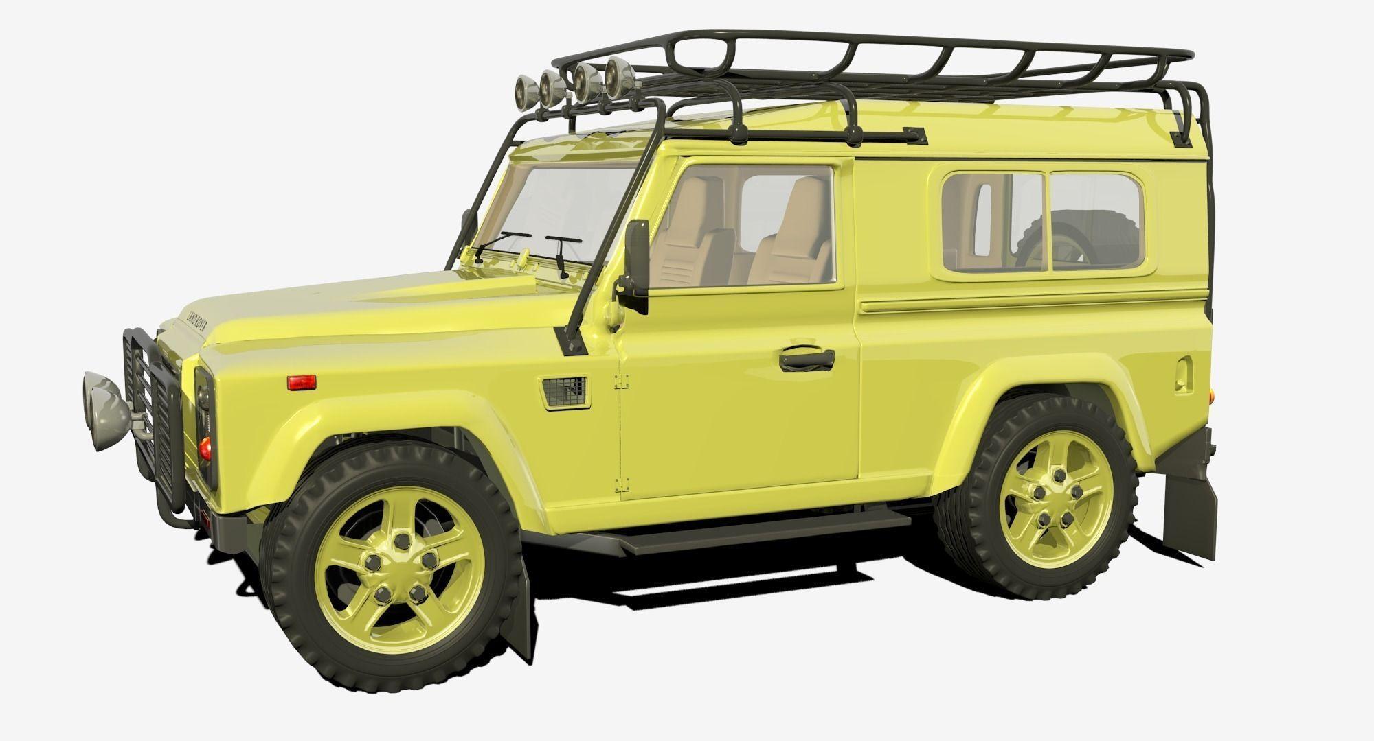 land rover defender 3d model obj 3ds fbx blend dae. Black Bedroom Furniture Sets. Home Design Ideas